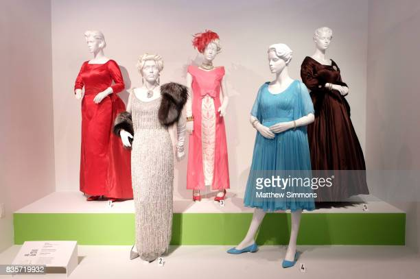 Costumes from the show 'FEUD Bette and Joan' on display at the media preview of the 11th annual 'Art of Television Costume Design' exhibition at FIDM...