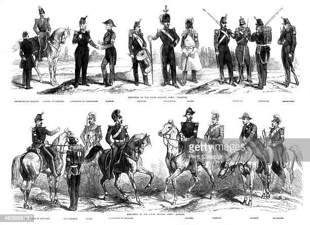 Costumes of the Swiss Federal Army 1857 From the Illustrated Times 1857