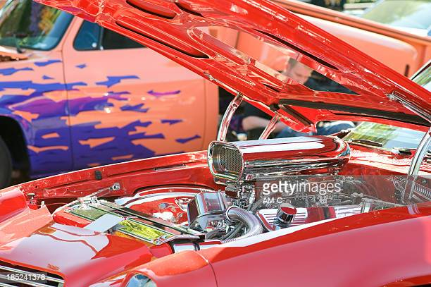 Costumized V8 Motor des Muskel Auto
