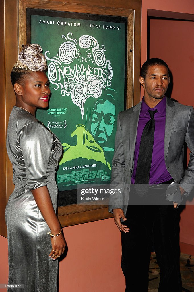 Cosutme Designer Charlese Antoinette Jones and actor Amari Cheatom attend 'Newlyweeds' premiere during NEXT WEEKEND, presented by Sundance Institute at Sundance Sunset Cinema on August 10, 2013 in Los Angeles, California.