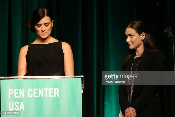 Cote De Pablo and Winona Ryder present the Lifetime Achievment Award during PEN Center USA's 26th Annual Literary Awards Festival honoring Isabel...