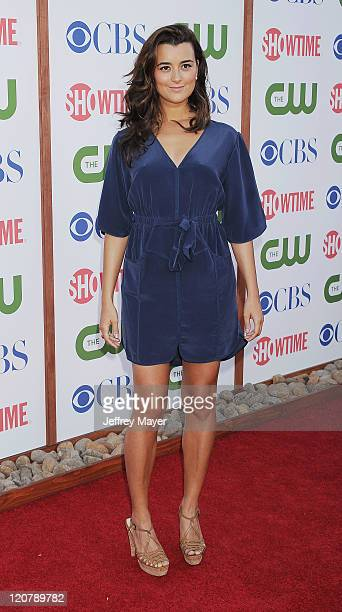 Cote de Pablo arrives at the TCA Party for CBS The CW and Showtime held at The Pagoda on August 3 2011 in Beverly Hills California