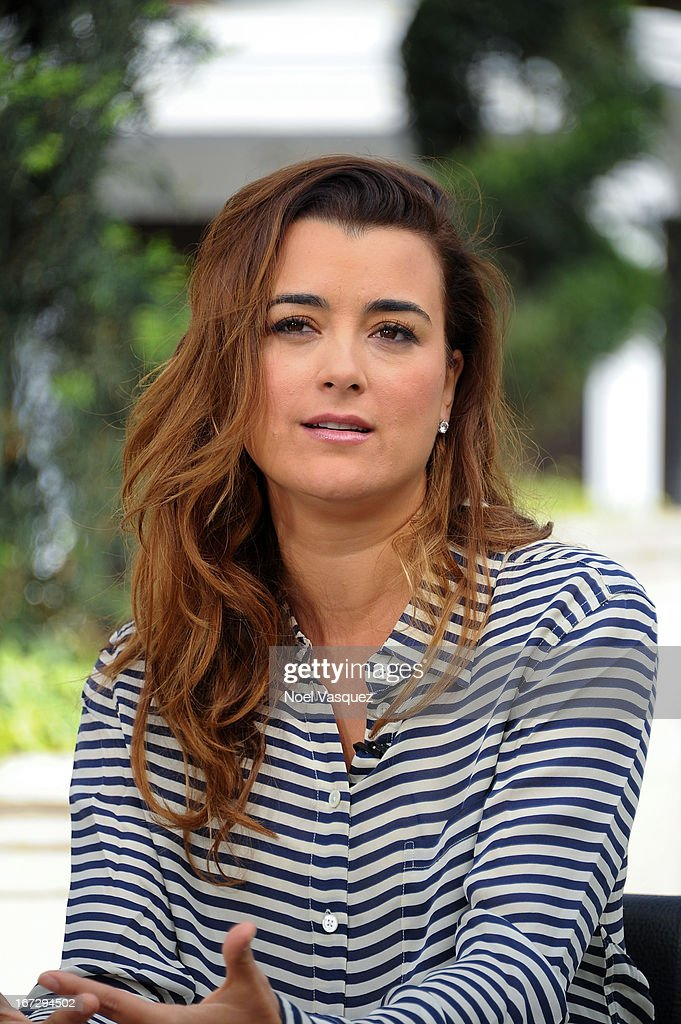 Cote De Pablo visits 'Extra' at The Grove on April 23, 2013 in Los Angeles, California.
