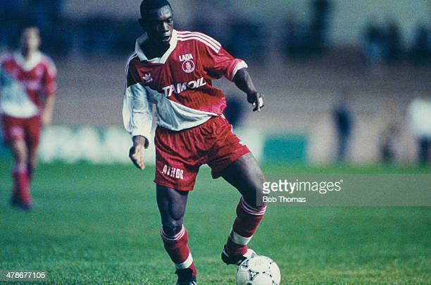 Cote d'Ivoire footballer Youssouf Falikou Fofana playing for AS Monaco FC in a French Ligue 1 match against Le Havre AC at the Stade Louis II in...