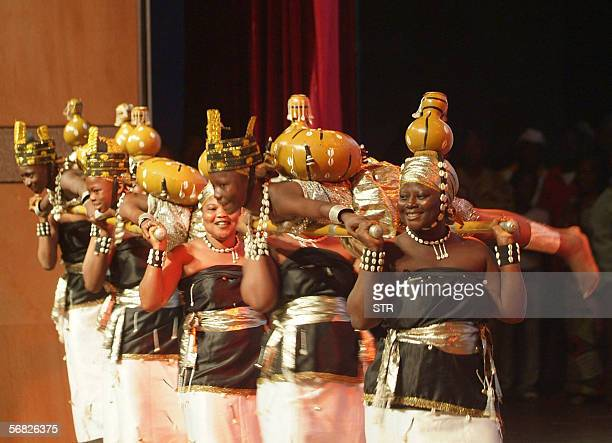 'As du Benin' perform at the opening of Benin's Eight International theater festival 11 february 2006 in Cotonou AFP PHOTO