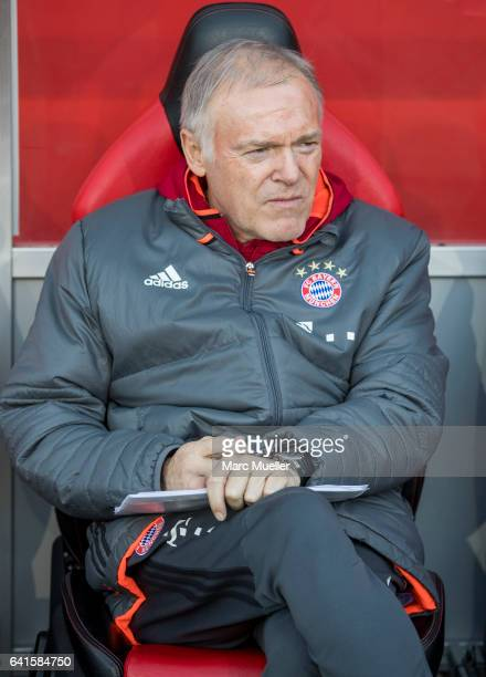 CoTrainer Hermann Gerland of Bayern Munich during the Bundesliga match between FC Ingolstadt 04 and Bayern Muenchen at Audi Sportpark on February 11...