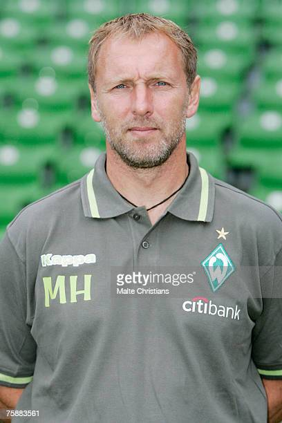 CoTrainer Mathias Hoenerbach poses during the Bundesliga 1st Team Presentation of Werder Bremen at the Weser Ems Stadion in Bremen on July 30 2007 in...