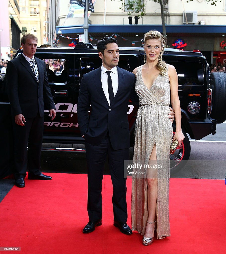 DJ Cotrona and Adrianne Palicki arrive at the 'G.I.Joe: Retaliation' - Australian Premiere at Event Cinemas George Street on March 14, 2013 in Sydney, Australia.