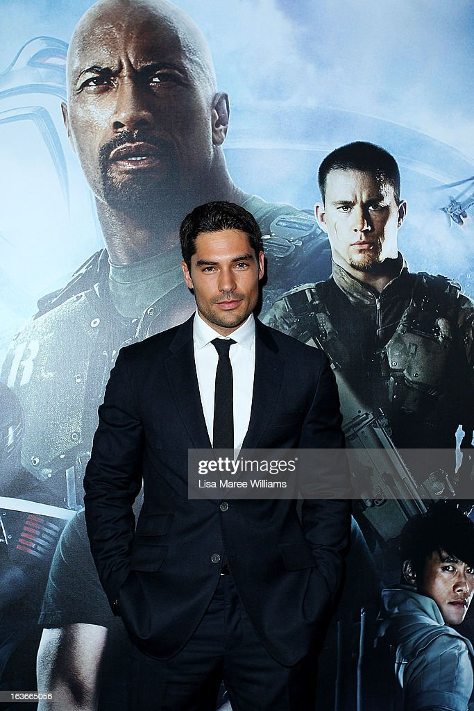 DJ Cotrona arrives at the 'G.I.Joe: Retaliation' - Australian Premiere at Event Cinemas George Street on March 14, 2013 in Sydney, Australia.