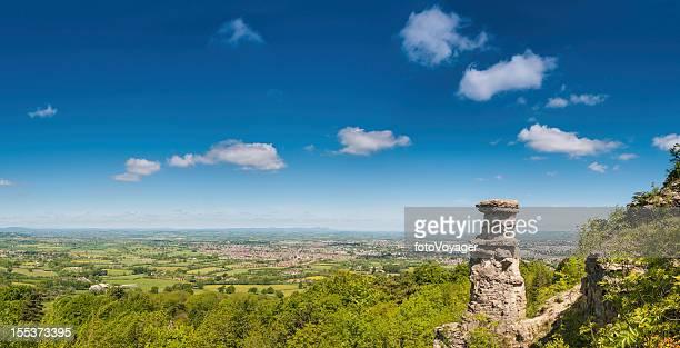 Cotswold summer landscape above Cheltenham UK