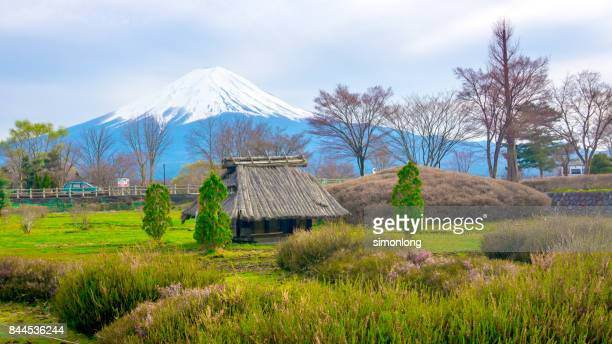 A cottage and Mt. Fuji