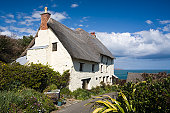 Cottage at Church Cove, The Lizard, Cornwall, England
