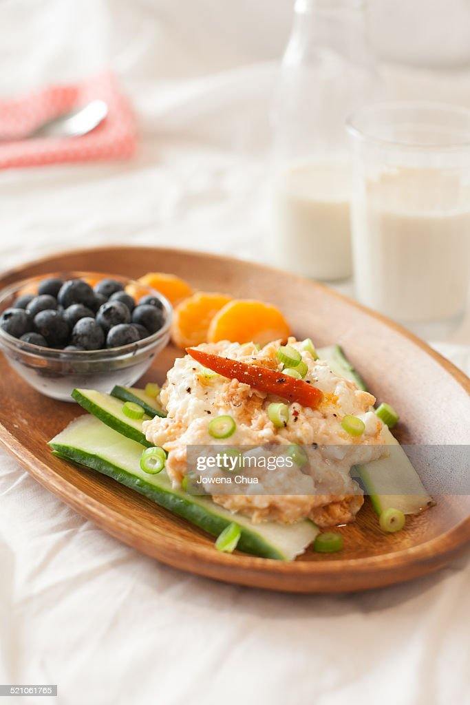 Cottage Cheese and Salmon