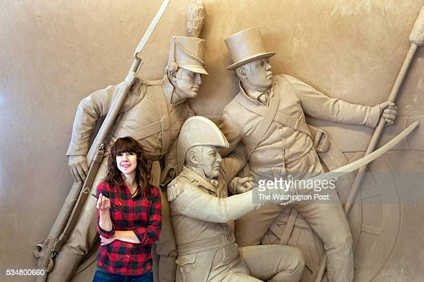 Cottage City Sculptor Joanna Blake poses in front of the model of the Battle of Bladensburg Memorial she created on Monday November 26 2012 in...