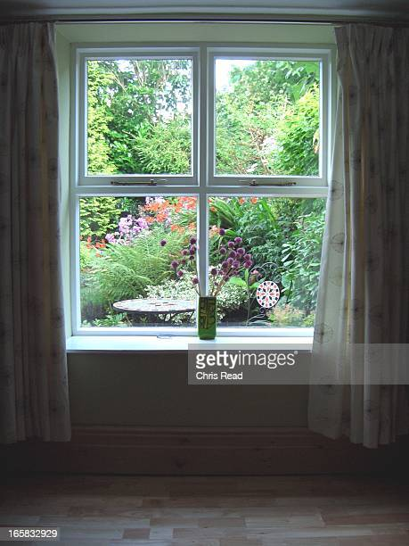 Cottage Garden Window View