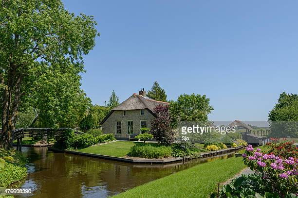 Cottage in the village of Giethoorn in The Netherlands
