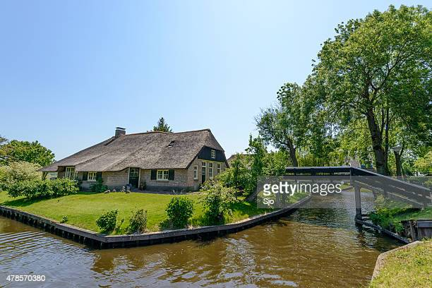 Cottage in the village of Giethoorn in The Netherlands.