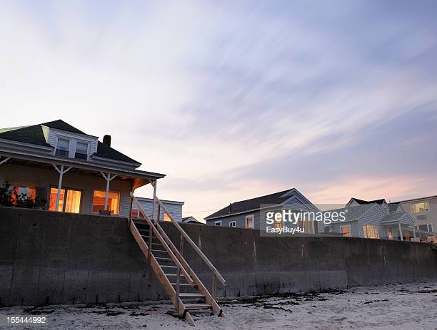 Cottages au bord de la plage