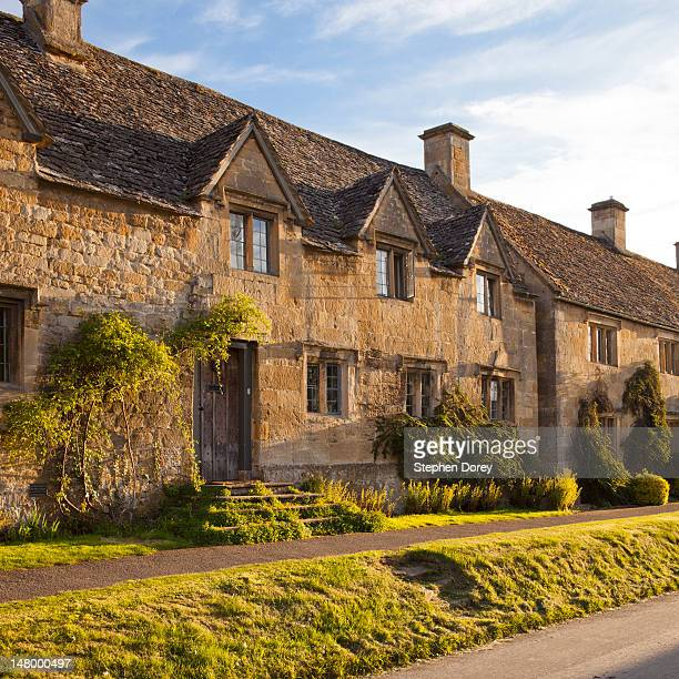 Cottages in the Cotswold village of Stanton