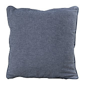 Gray cotton backrest pillow isolated on white background