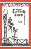 Cotton Club Menu Cover