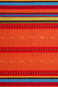 Textile Detail Background with Latin American and Mexican Color Pattern