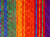 Textile Detail Background with Latin American and Mexican Color