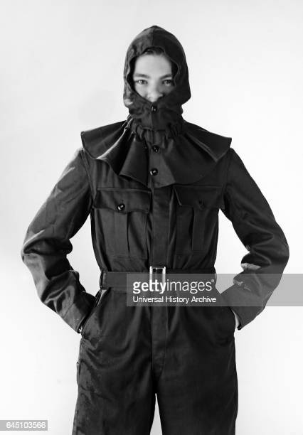 Cotton outfit with hood and cape 1969