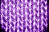 Cotton textile under microscope, light micrograph, magnification 40x