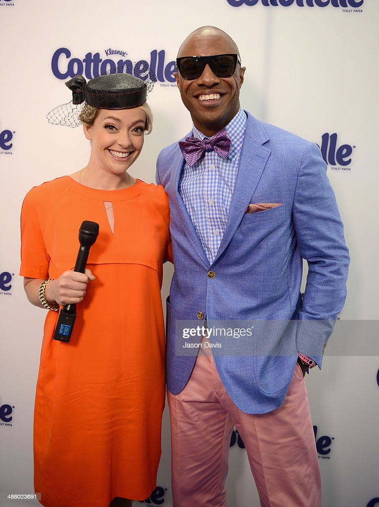 Cottonelle spokesperson and documentary filmmaker Cherry Healey (L) and former NBA player <a gi-track='captionPersonalityLinkClicked' href=/galleries/search?phrase=Jay+Williams+-+Basketball+Player&family=editorial&specificpeople=224628 ng-click='$event.stopPropagation()'>Jay Williams</a> attend Cottonelle Celebrity 'Clean Room' at the 140th Kentucky Derby at Churchill Downs on May 3, 2014 in Louisville, Kentucky.