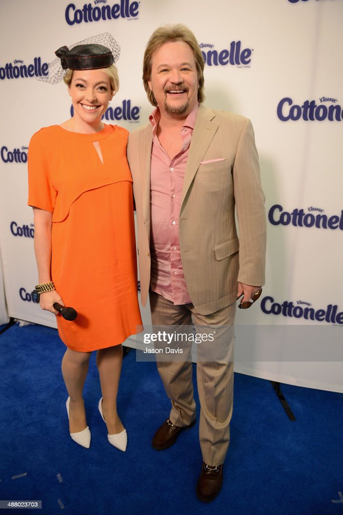 Cottonelle spokesperson and documentary filmmaker Cherry Healey (L) and singer <a gi-track='captionPersonalityLinkClicked' href=/galleries/search?phrase=Travis+Tritt&family=editorial&specificpeople=215125 ng-click='$event.stopPropagation()'>Travis Tritt</a> attend Cottonelle Celebrity 'Clean Room' at the 140th Kentucky Derby at Churchill Downs on May 3, 2014 in Louisville, Kentucky.