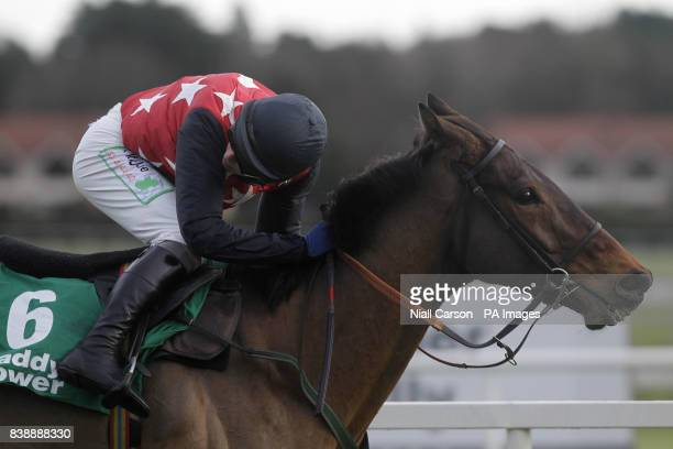 Cottrelsbooley ridden by Paul Townend wins the paddypowercom Android App Maiden Hurdle during day four of the Christmas Festival at Leoparstown...