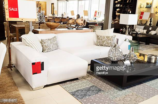 Couch on sale at upmarket home decor outlet