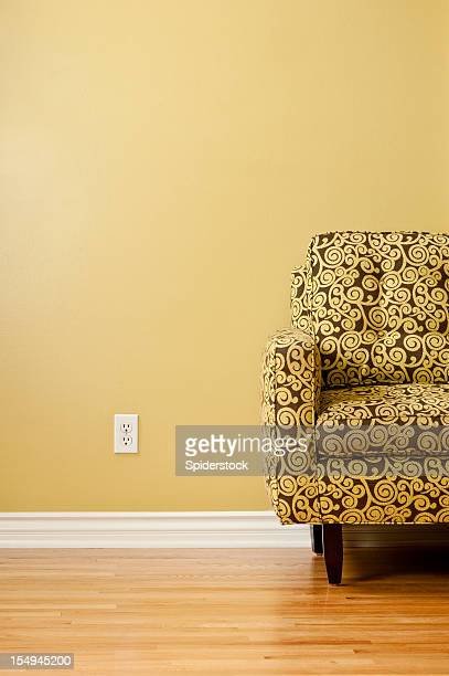 Couch With Patterned Fabric
