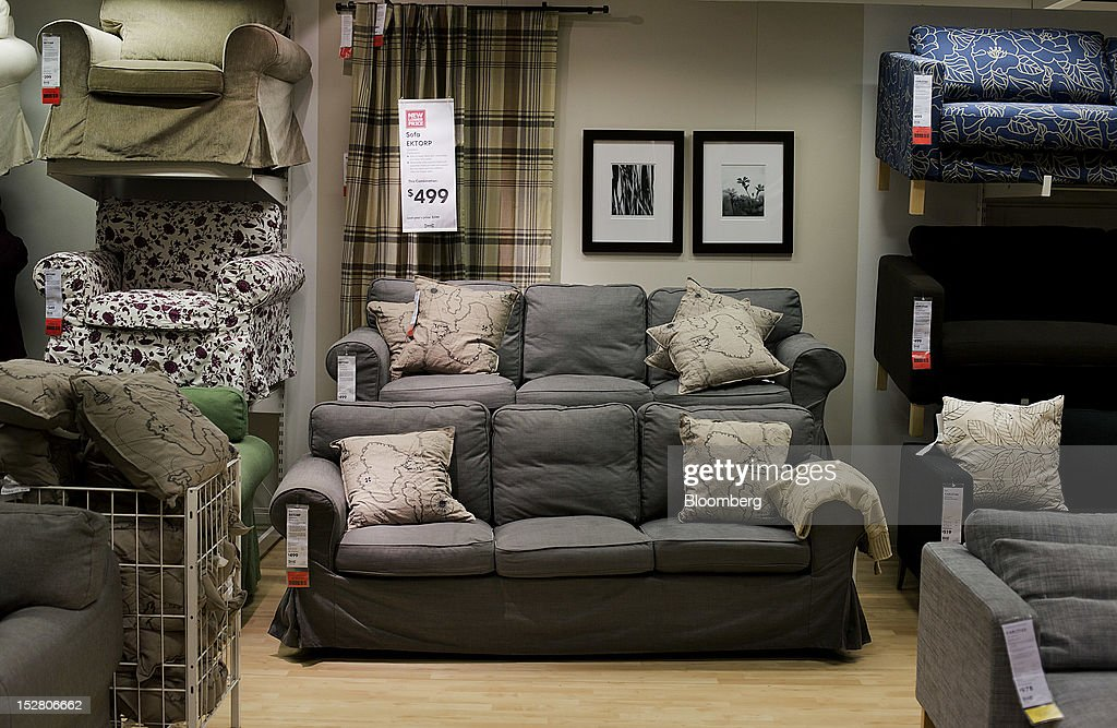 Couches Are Displayed For Sale In The Showroom Of An Ikea Store In The  Brooklyn Borough