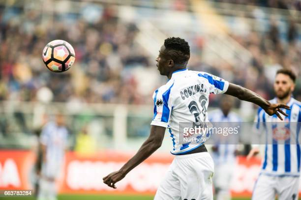 Coulibaly Mamadou during the Italian Serie A football match Pescara vs Milan on April 02 in Pescara Italy