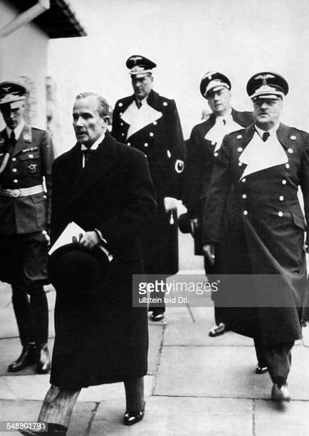 Coulondre Robert Lawyer Diplomat France *11091885 on arrival at the Berghof on the Obersalzberg near Berchtesgaden on the occasion of the...