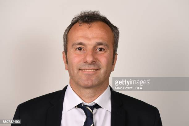 Council member Dejan Savicevic poses for a portrait at the Diplomat Radisson Blu ahead of the FIFA Congress on May 9 2017 in Manama Bahrain