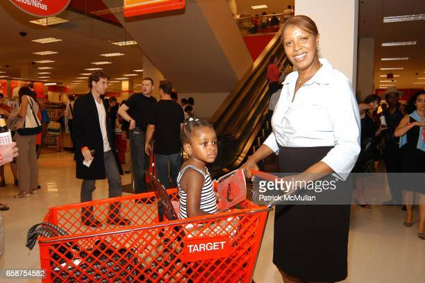 Council Member Letitia James and Mekayla Moore attend Grand Opening of the Brooklyn Target Store at Brooklyn on July 20 2004
