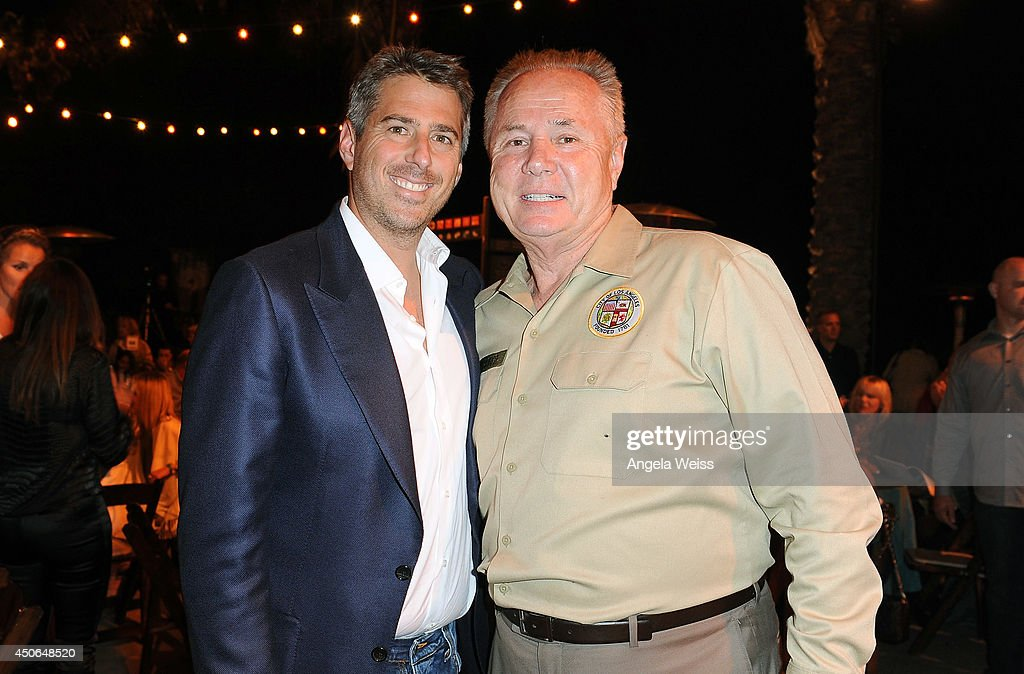 Council member Tom LaBonge (R) and Casey Wasserman attend the Greater Los Angeles Zoo Association (GLAZA) 44th Annual Beastly Ball at Los Angeles Zoo on June 14, 2014 in Los Angeles, California.