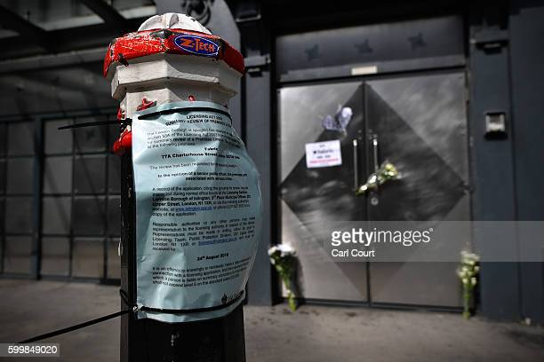 A council notice is displayed on a bollard outside Fabric nightclub following the announcement of its closure on September 7 2016 in London England...