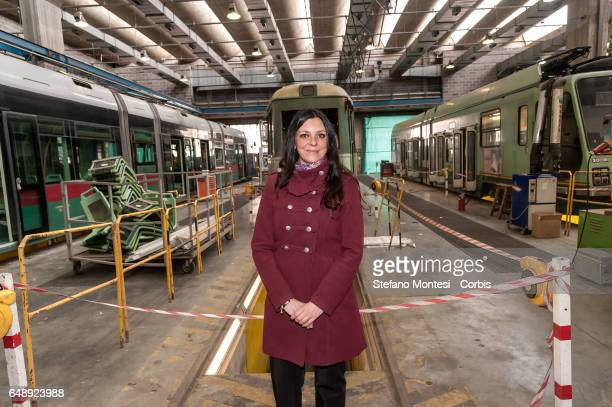 Councillor for Mobility of Roma Capitale Linda Meleo attends the campaign dedicated to the theme 'don't be recognized pay the ticket' at the offices...