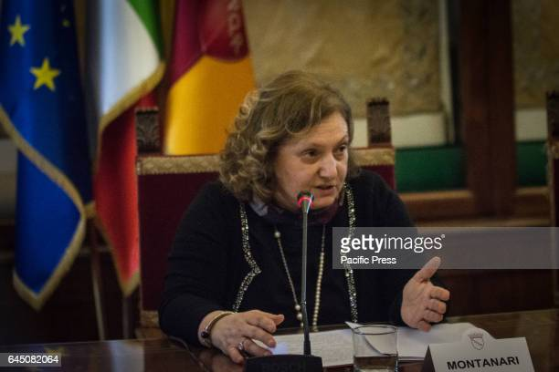 Councillor to the Capital Rome Pinuccia Montanari during the signing of memorandum of Understanding with Assobioplastiche at the Capitol