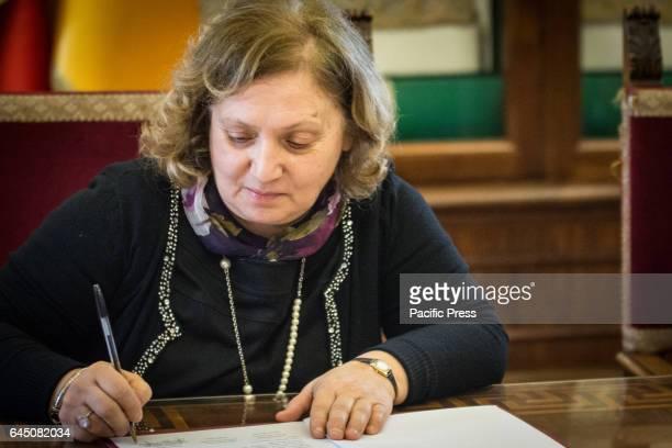 Councillor to the Capital Rome Pinuccia Montanari signed the memorandum of Understanding with Assobioplastiche at the Capitol