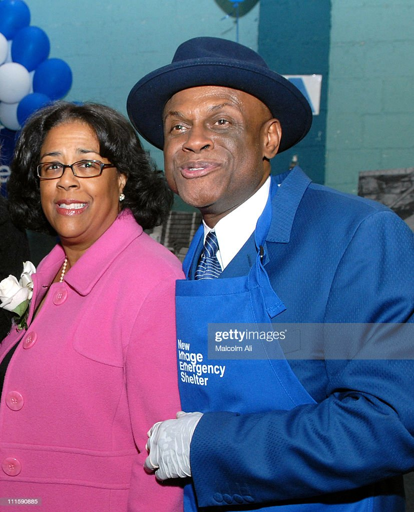 Councilwoman Jan Perry and Ccmedian Michael Colyar