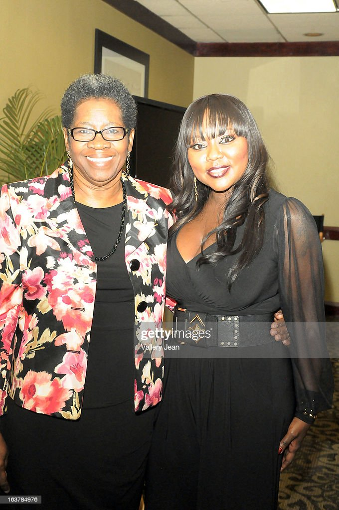 Councilwoman Lillie Q. Odom and R&B singer LaTocha Scott attends the Jazz in the Gardens Women's Conference and Luncheon at Shula's Hotel & Gold Club on March 15, 2013 in Miami Lakes, Florida.