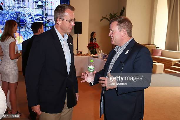 Counsel General James Story US Consulate Rio de Janeiro and USOC CEO Scott Blackmun attend the Consulate Brunch at the USA House at the Colegio Sao...