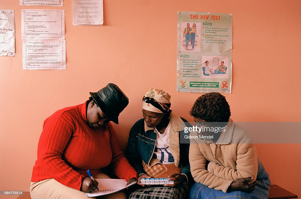 Counsellor Nolita Maila talks to Nozamile Ndarah at the Xurana Clinic Nozamile accompanied by her mother her designated treatment supporter had just...