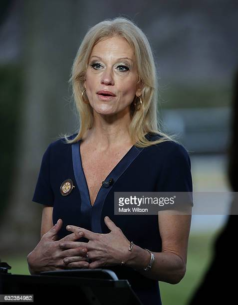 Counselor to President Kellyanne Conway appears on the Sunday morning show This Week with George Stephanopoulos from the north lawn at the White...