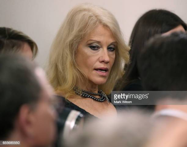 Counselor to the president Kellyanne Conway attends White House Press Secretary Sean Spicer's daily briefing at the White House on March 20 2017 in...